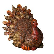 "Winter Lane 9"" Resin Harvest Turkey Figurine"