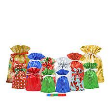 Winter Lane Large Gift Bag Set - 12-piece