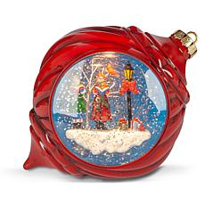 Winter Lane Musical Lighted Globe Ornament
