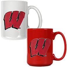 Wisconsin Badgers 2pc Coffee Mug Set
