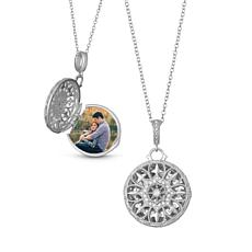 "With You Lockets™ Sterling Silver ""Beatrice"" .13ctw Diamond Locket"