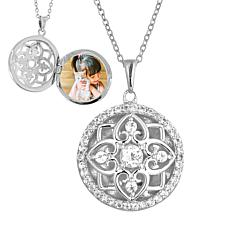"With You Lockets™ Sterling Silver ""Elsie"" White Topaz Locket"