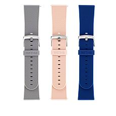 WithIT 3-pack Silicone Bands for Fitbit Versa Series