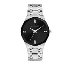 Wittnauer  Diamond Silvertone Black Dial Modern Watch