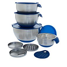 Wolfgang Puck 12-piece Stainless Steel Mixing Bowl Prep Set