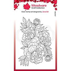 """Woodware Clear Singles 4"""" x 6"""" Stamp - Camellia Spray"""