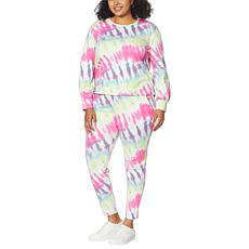 WVVY 2-piece Printed Sweatshirt and Jogger Pant Athleisure Set