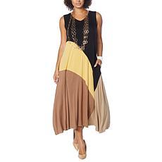 WynneLayers Colorblocked Sleeveless Maxi Dress