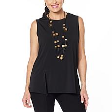 WynneLayers Knit Sleeveless Top with Front Seam Detail