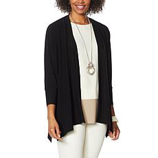 WynneLayers Luxe Crepe Knit Unconstructed Cardigan