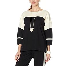 WynneLayers Luxe Knit Colorblocked Boxy Top