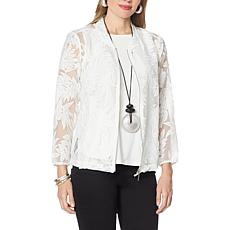 WynneLayers Organza Burnout Bomber Jacket