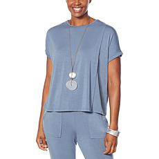 WynneLayers Overlapping Jersey Knit Top