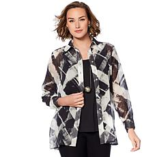 WynneLayers Printed Collar Shirt