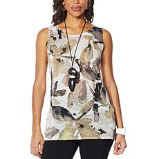 WynneLayers Printed Shadow Leaf Tank