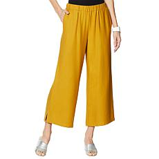 WynneLayers Pull-On Cropped Pant with Side Slits