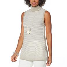 WynneLayers Ribbed Knit Mock-Neck Top