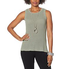 WynneLayers Ribbed Sweater Knit Tank
