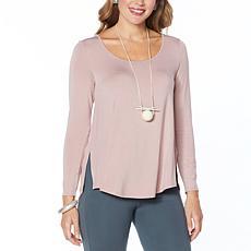 WynneLayers Scoop-Neck Long-Sleeve Knit Top