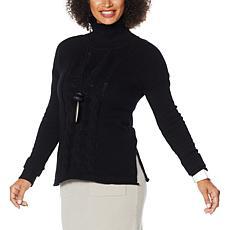 WynneLayers Soft Knit Mock-Neck Sweater