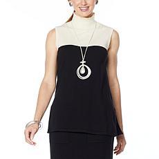 WynneLayers Soft Knit Sleeveless Colorblock Tunic
