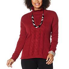 WynneLayers SoftKNIT Mock-Neck Sweater