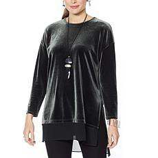 WynneLayers Stretch Velvet Tunic