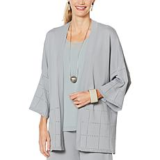 WynneLayers Sweater Cardigan with High Side Slits