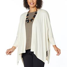 WynneLayers Unconstructed Open-Front Knit Cardigan