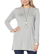 WynneLayers Unstructured Layering Tunic with Side Slits