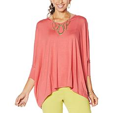 WynneLayers V-Neck Knit Boxy Tee