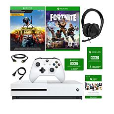 Xbox One S 1TB 4K Console w/2 Games, Headset and 3-Month Live Voucher
