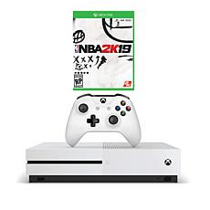 "Xbox One S 1TB Console Bundle with ""NBA 2K19"" Game and Accessories"