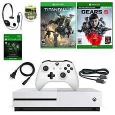 Xbox One S 1TB Console with Gears of War 5, Titanfall 2 & Accessories