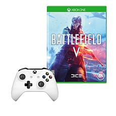 """Xbox One S Controller with """"Battlefield V"""" Game"""