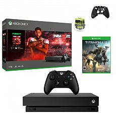 Xbox One X 1TB Console with NBA 2K20 with Titanfall 2 and Accessories