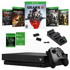 Xbox One X with Gears of War 5 and Dual Charger