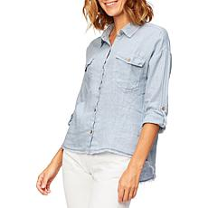XCVI Whitson Button-Up Blouse