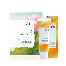 YUNI Beauty Glow with the Flow + Rose Cucumber Shower Sheet