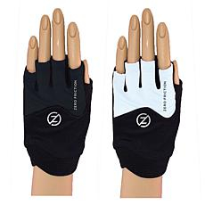 Zero Friction Ladies Universal Fit Pull On Fitness Gloves 2-Pair Pack