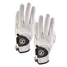 Zero Friction Men's Cabretta Elite Universal-Fit Golf Glove 2-Pack
