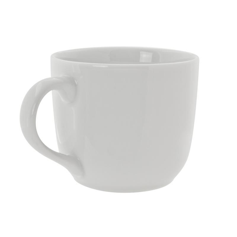 10 Strawberry Street Round White Latte Mugs - Set of 6