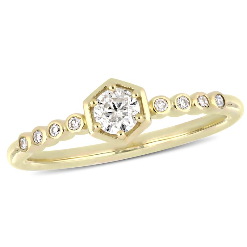 10K Yellow Gold 0.29ctw  Diamond Fashion Ring