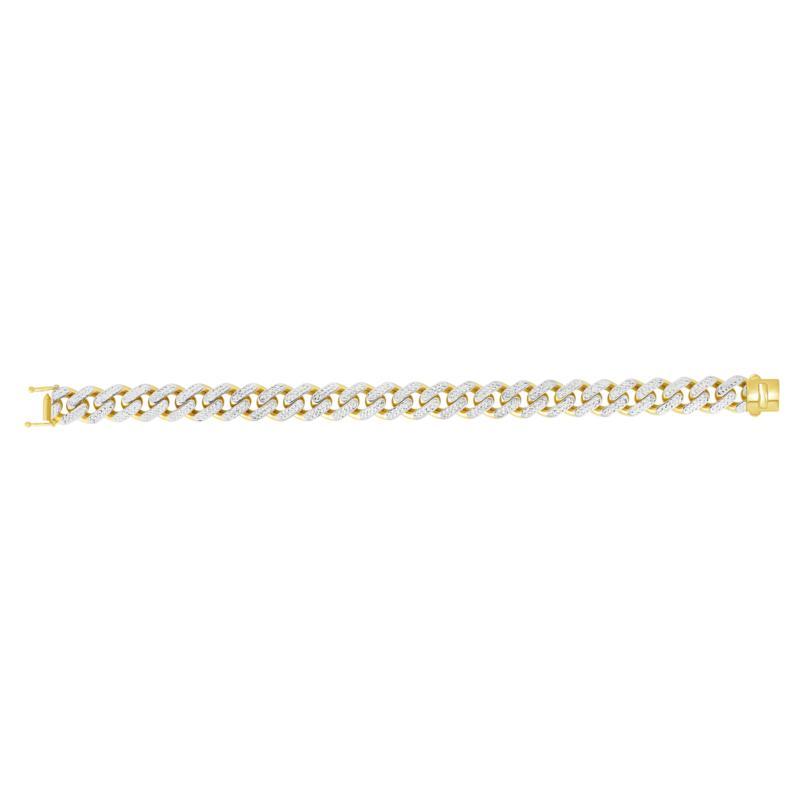 "14K Yellow Gold 13.5mm Light Miami Cuban Chain Bracelet - 8.5"""