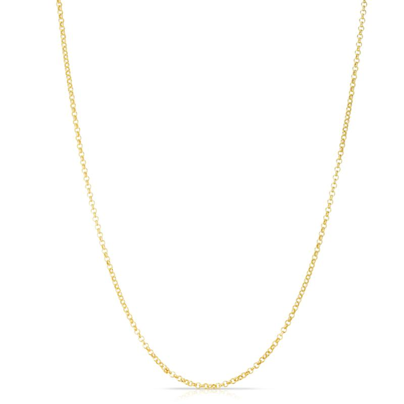 """14K Yellow Gold 20"""" 1.9mm Rolo and Oval Chain"""