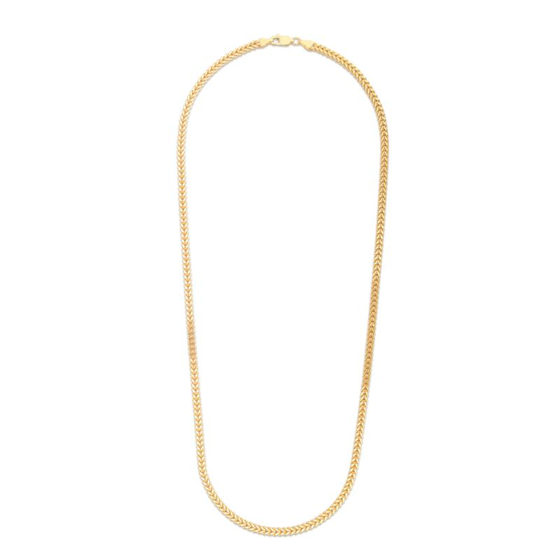 """14K Yellow Gold 3.2mm Semi-Solid Square Franco Chain Necklace - 20"""""""