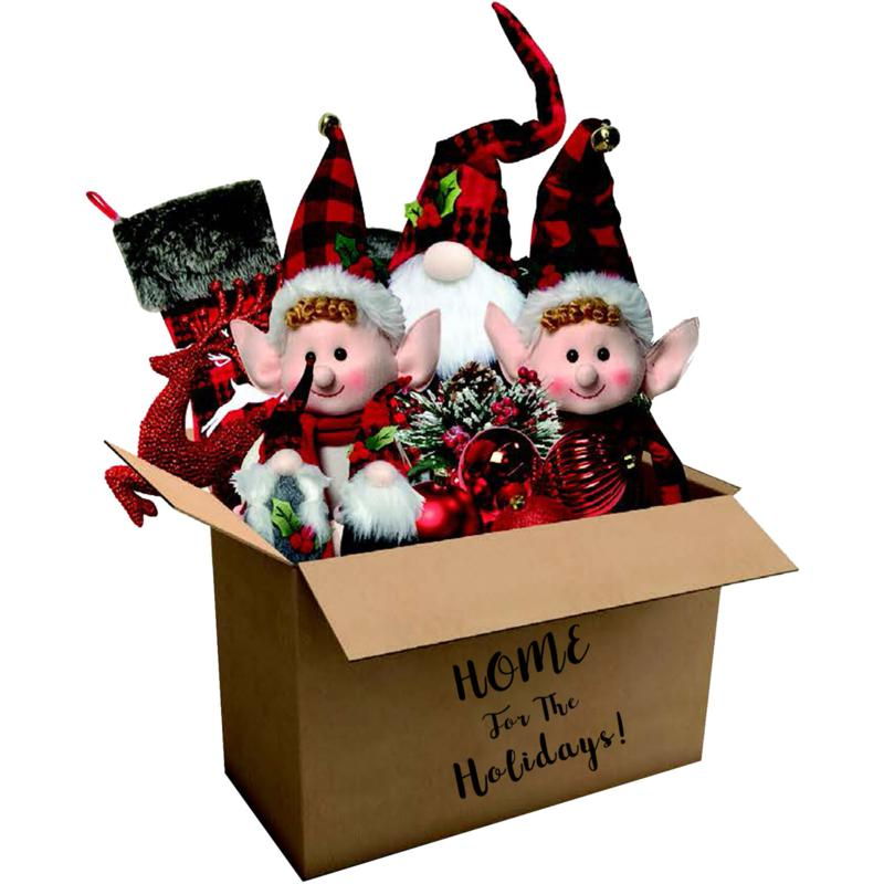 182-Piece Home for the Holidays Woodland Plaid Ornament & Décor Set
