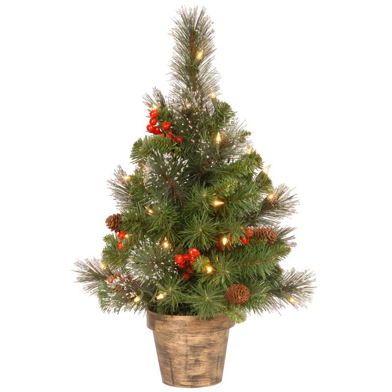 2' Crestwood Spruce Entrance Tree w/Lights