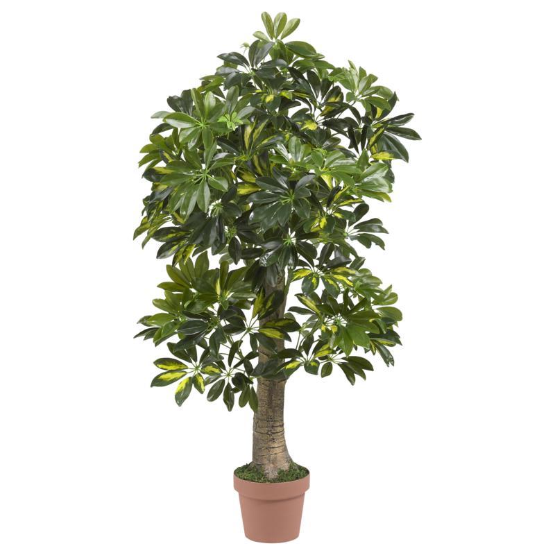 4' Schefflera Silk Tree Real Touch