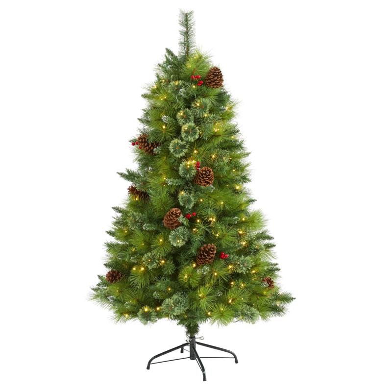 5 ft. Montana Mixed Pine Artificial Christmas Tree with Pine Cones,...